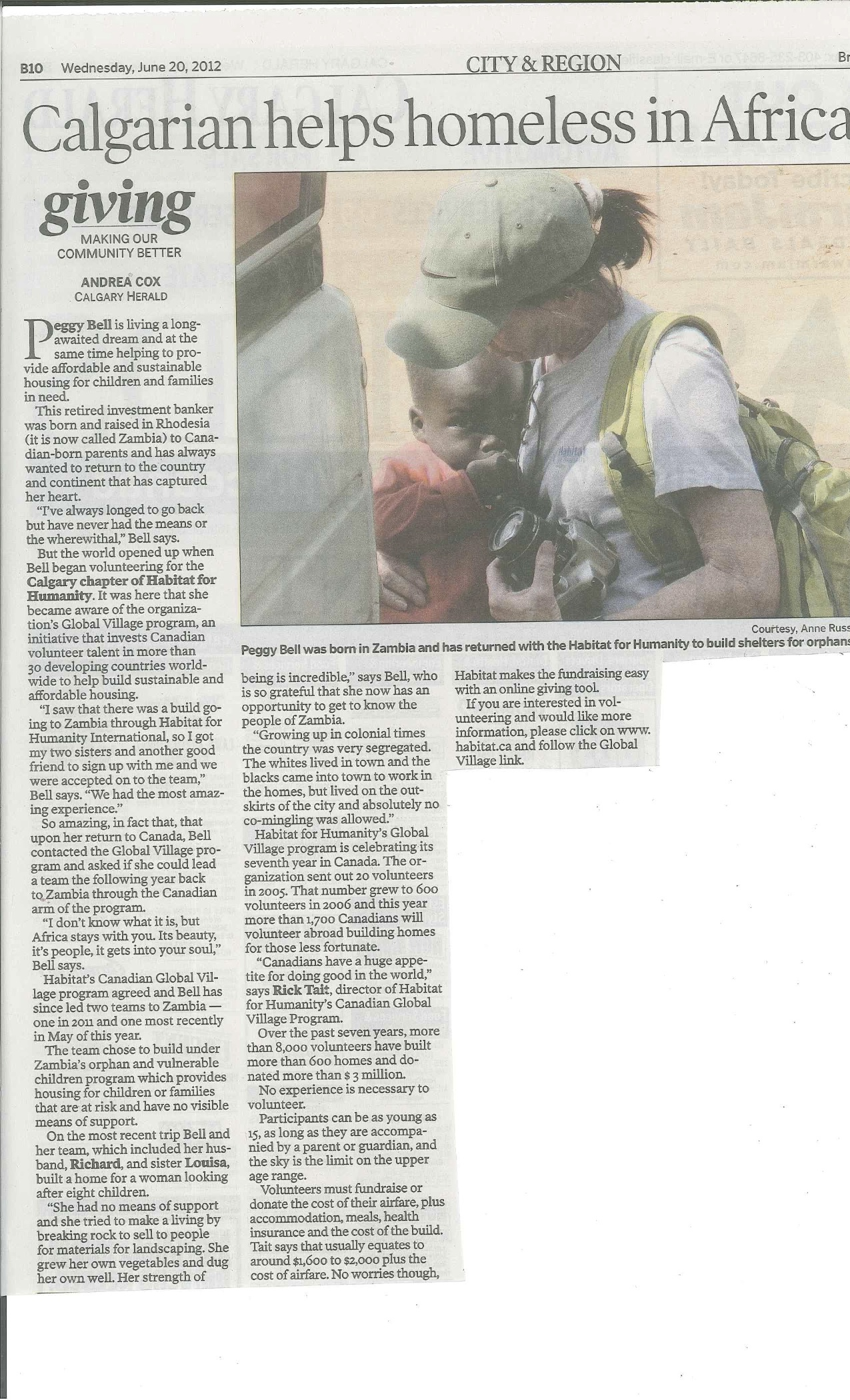 Peggy Bells Newspaper Article (2)
